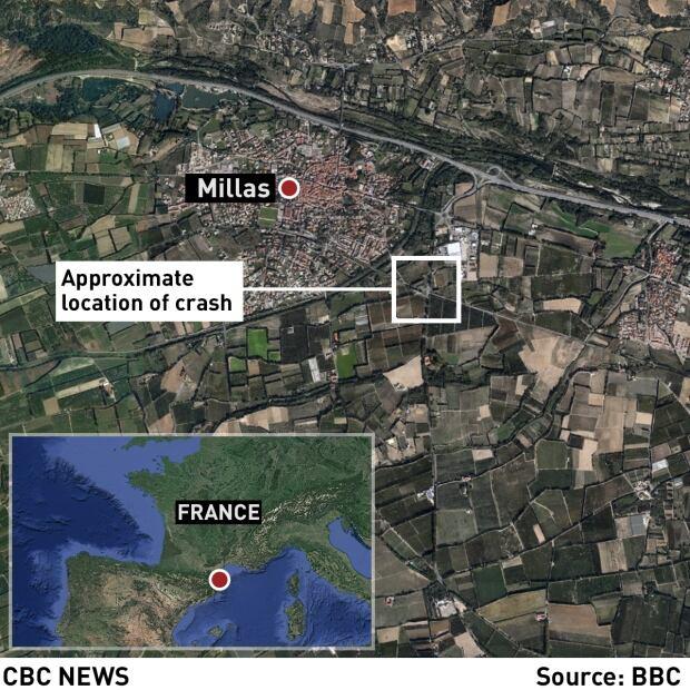 map  France bus train collision