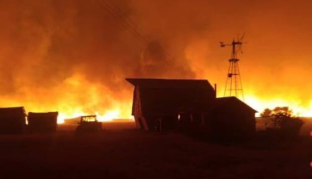 CFB Suffield fire at Sarvis property