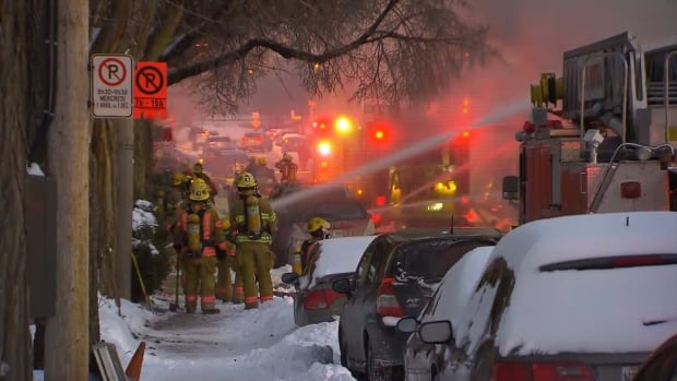 Montreal fire fighters responded to a call in the Hochelaga-Maisonneuve area, Thursday evening.