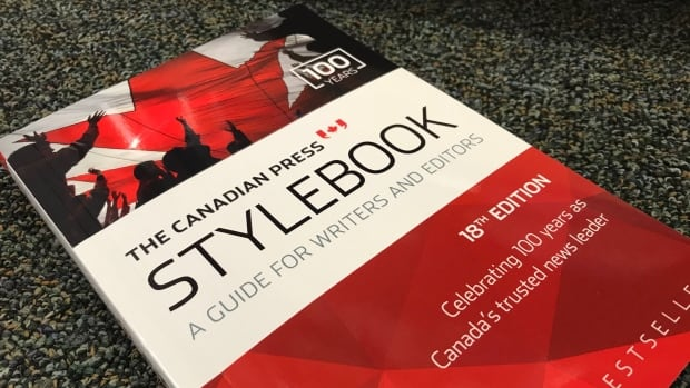 A copy of the 18th edition of The Canadian Press Stylebook at a Yellowknife book store. Errors in the Inuit section of the latest edition has left one journalism professor calling for a recall of the book.