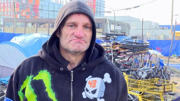 Ward Fergusen says he'd rather live at the Sugar Mountain tent city than go to a shelter.