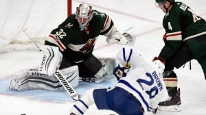 Leafs' offence sputters in uninspiring loss to Wild