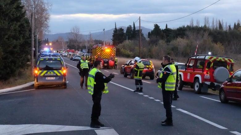 FRANCE BUS TRAIN CRASH