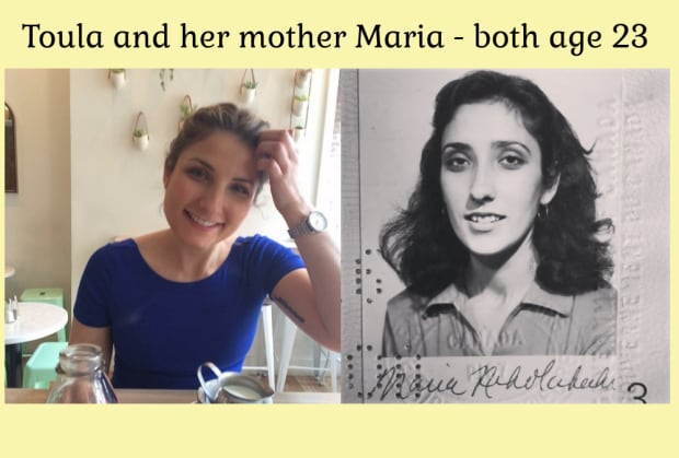 Toula and mother Maria, both at age 23