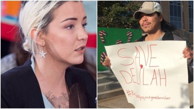 People rally in support of Delilah Saunders getting a new liver