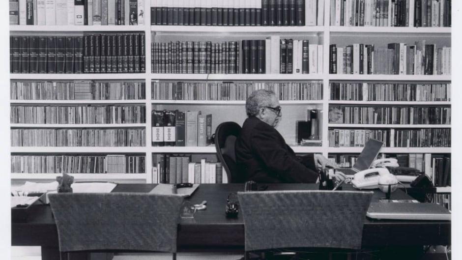 Gabriel Garcia Marquez at work in his office.
