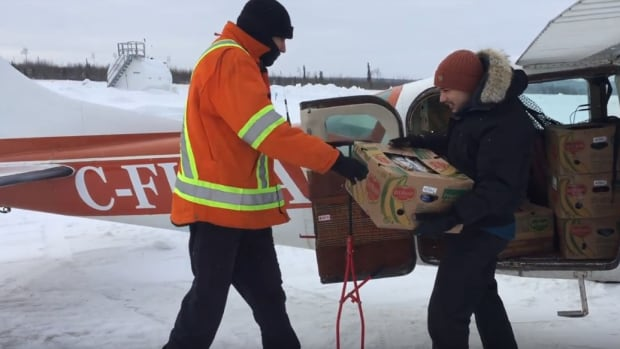 KBM Resources Group donated an aircraft to deliver food, destined for Nibinamik First Nation.