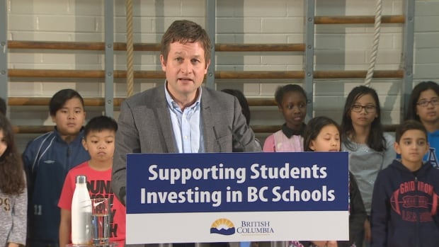 B.C. Education Minister Rob Fleming announced two Surrey elementary schools will receive $10.4 million funding for seismic upgrades.