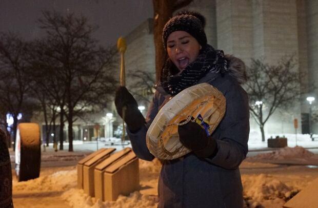 Laura Gagnon vigil drum