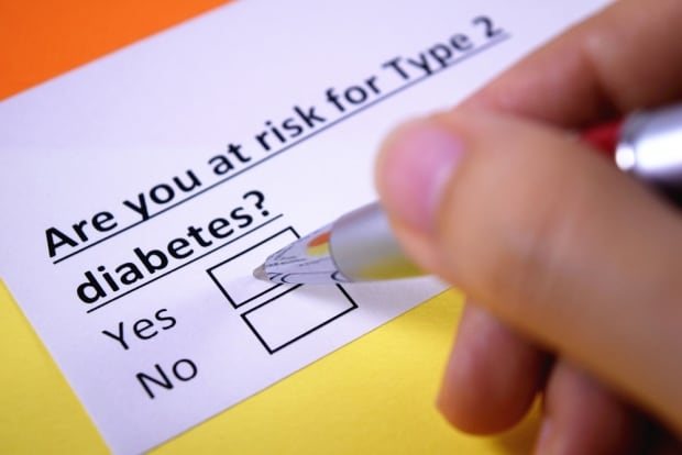 Type 2 diabetes questionnaire shot