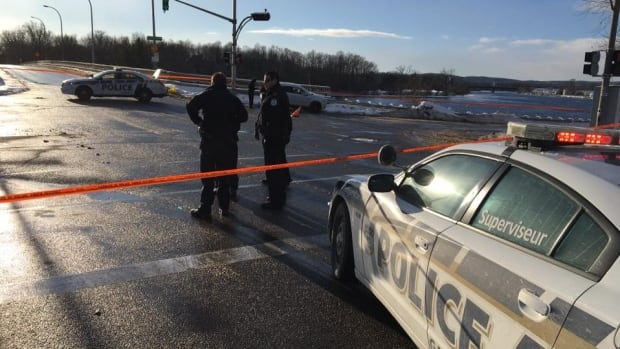 Gatineau police say a woman in her 60s is dead after being struck by a driver near the Lady Aberdeen Bridge Saturday afternoon.