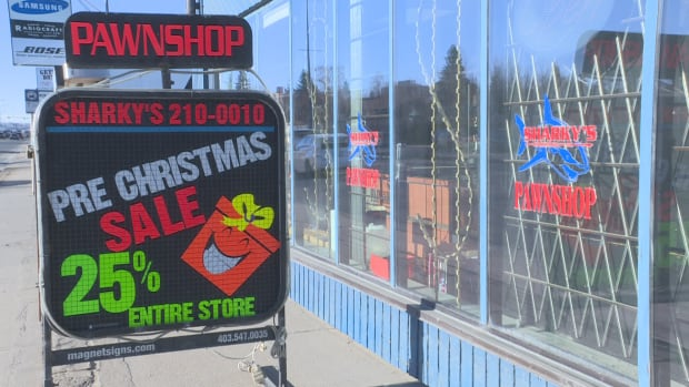 Sharky's International is a pawnshop located in northwest Calgary.