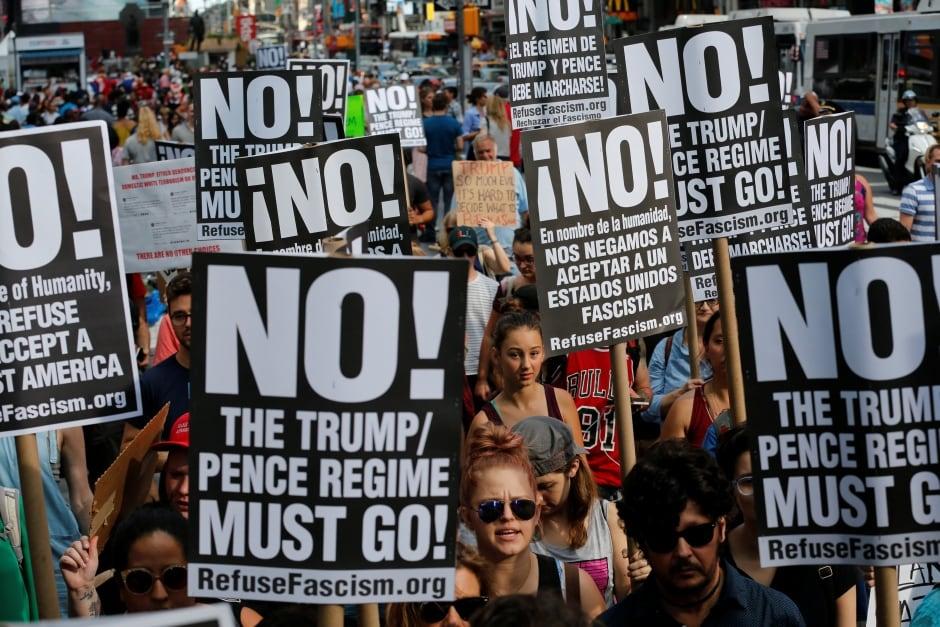 NEWYORK PROTEST Donald Trump