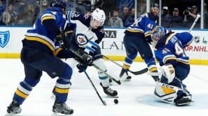 Carter Hutton shuts out Jets as Blues strike 1st in home-and-home series