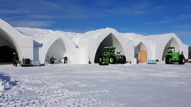 The Quebec City Ice Hotel could set a new record for early opening.