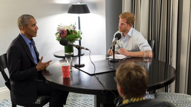 Prince Harry chats with former U.S. president Barack Obama for an upcoming guest editor slot with BBC Radio 4.
