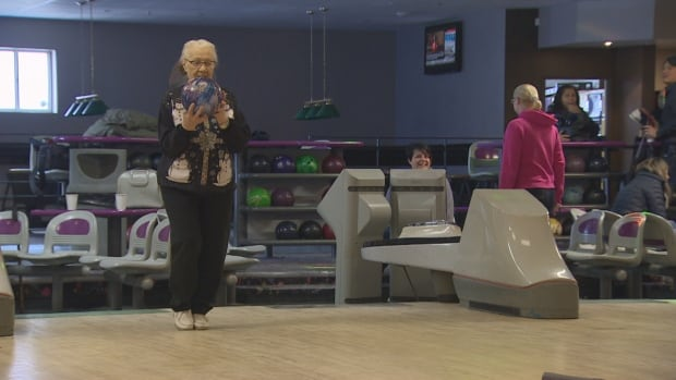 Joyce Frost., 97,  has been bowling since she was 13 years of age. Most recently with the Toronto Historical Bowling Society. Founded in 1983, it's one of the city's oldest gay men's league. Both Joyce and her league will lose it's lanes when Bowlerama West closes in January. A condo will go up on the site.