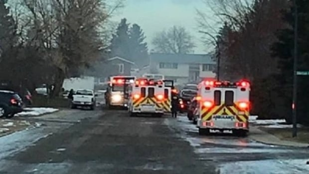 A fire broke out at a home at 45 Nagel Avenue in Red Deer on Sunday.