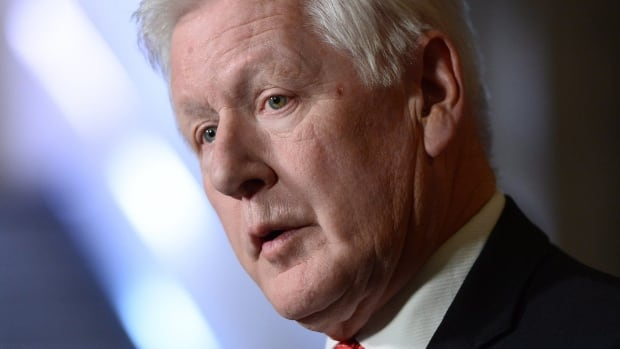 Bob Rae, special envoy to Myanmar, holds a press conference in the foyer of the House of Commons on Parliament Hill in Ottawa on Monday, October 23, 2017.