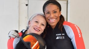 Hurdler Phylicia George finding her bobsleigh traction