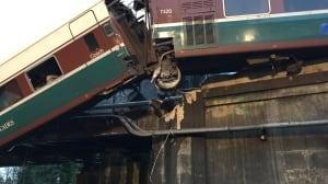Amtrak train derailed
