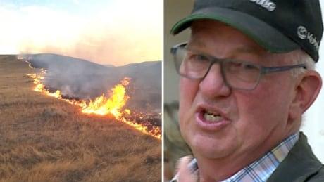 CFB Suffield grass fire with Ivan Schlaht