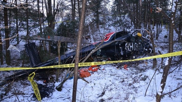A helicopter crash near Tweed, Ont., killed four Hydro One workers on December 14, 2017. The helicopter pilot and three crew members were performing routine maintenance work on a hydro line.