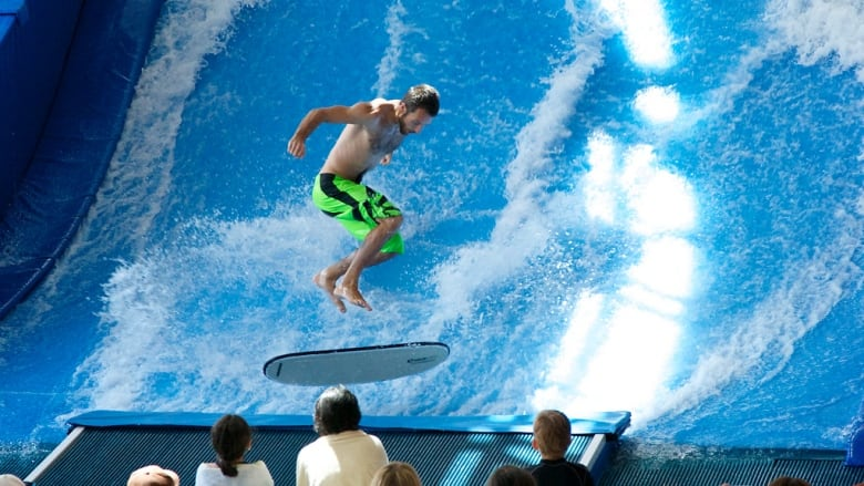 B C S Only Indoor Surf Machine Takes Centre Stage In