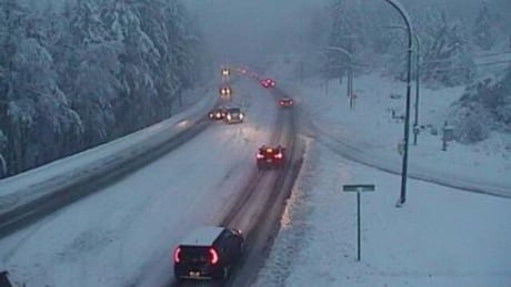 Snow causes school closings, slick roads, power outages on Vancouver Island