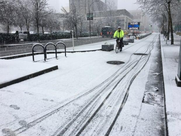 snow vancouver bike lane
