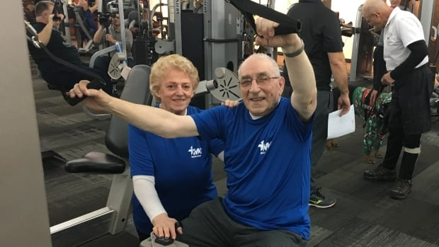 Alphonse Pelletier and his wife Rosaline Plourde are still working out. At 88, Pelletier is the oldest participant in the program.