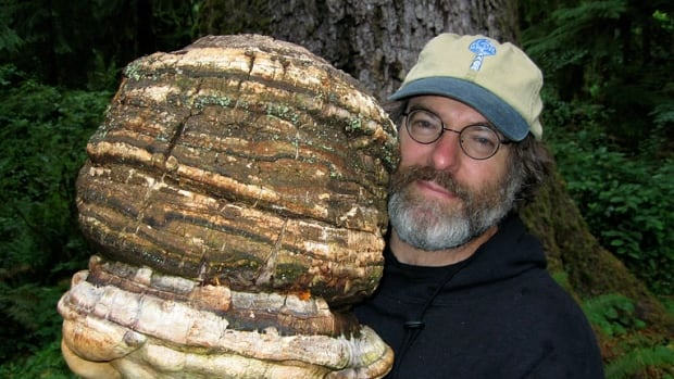 Paul Stamets, here holding an Agarikon mushroom, is the inspiration behind a character on Star Trek: Discovery.