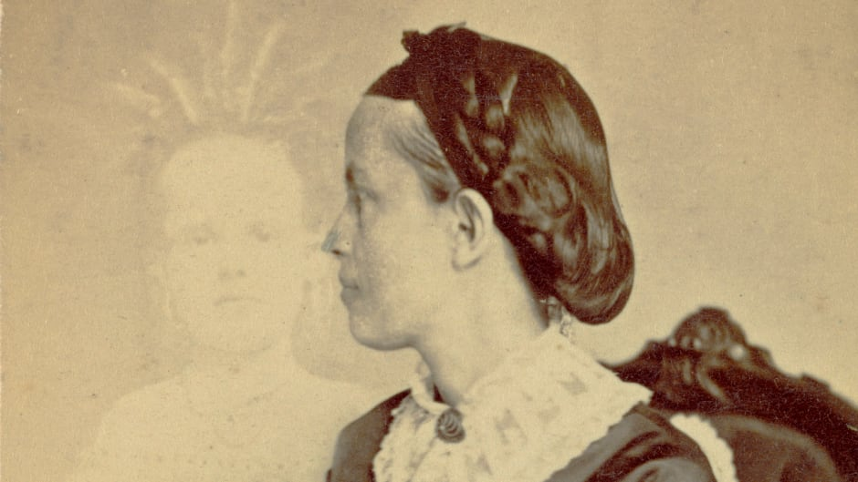 William Mumler was a 19th century American photographer who happened upon a technique to photograph what appeared to be a ghost. Here a spirit of a child shows up next to a woman, thought to be Ella Bonner.