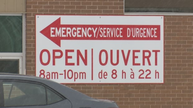 The emergency department is closed overnight.