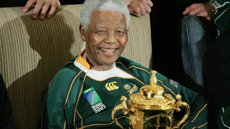 When the late South African President Nelson Mandela wore the team logo of the National Afrikaans team, it was an unbelievably powerful symbol, says author Dr. Robert Sapolsky.