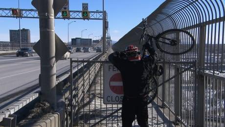 Jacques Cartier Bridge bike path