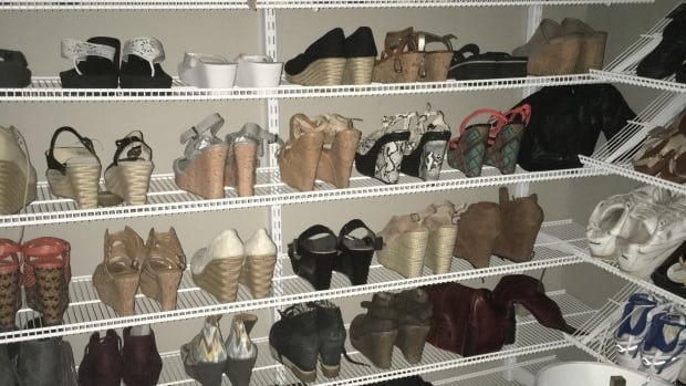 Loredana Moniz, whose shoe closet is shown here, considers her high heels an essential part of her everyday wardrobe and says she hasn't suffered any health complications.