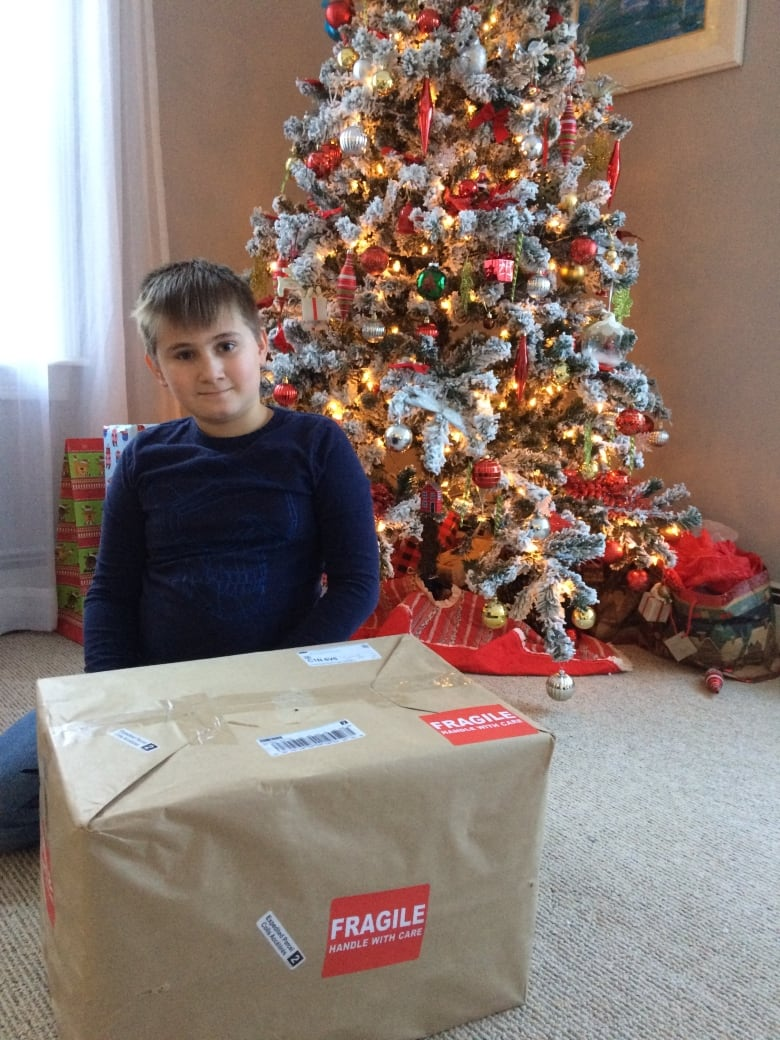 25cb579ba025 Riley Clarke says it felt like Christmas with all the packages of WW II  artifacts that he was receiving from Canadians. (Sarah Keaveny Vos CBC)
