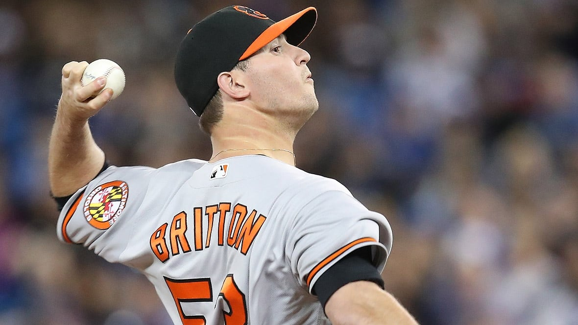 Orioles' Britton out six months with ruptured Achilles