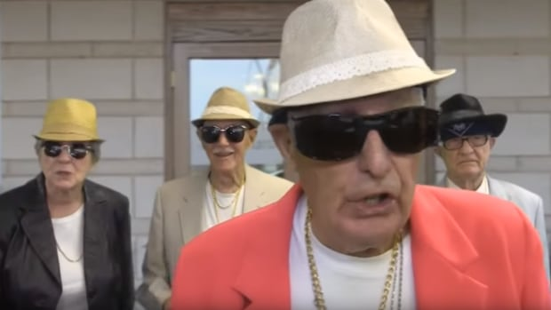 Landmark Village resident Arnold Murphy stars as Bruno Mars in his retirement home's tribute to Uptown Funk.