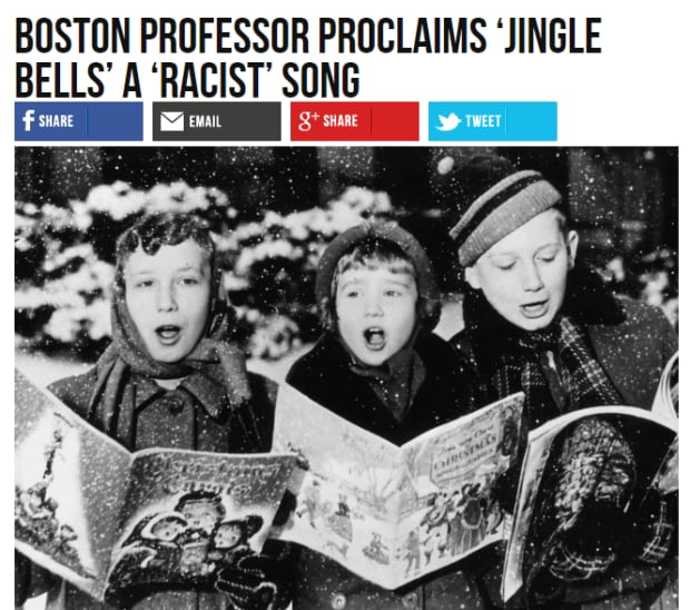 Breitbart Jingle Bells headline