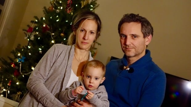 Geneviève Mercier, her husband Renaud Arnaud and daughter Leonie are displaced from their Gatineau home this holiday due to the spring flooding.