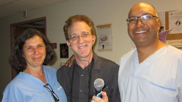 Veteran midwife Ilene Bell and Dr Shiraz Moola, OBGYN with Dr Brian Goldman