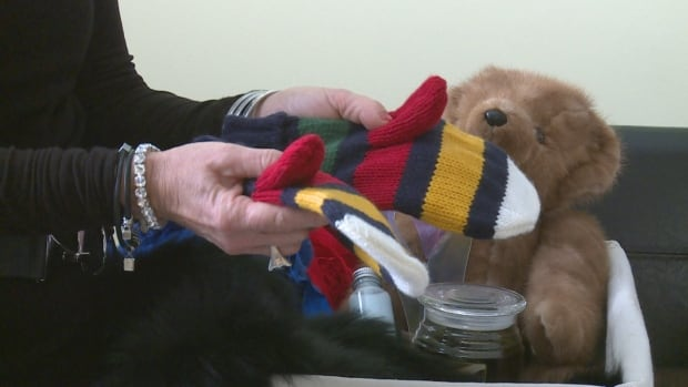 Corrine Hendricken-Eldershaw, CEO of the Alzheimer's Society of P.E.I., recommends building sensory baskets for people with Alzheimer's full of gifts that will appeal to their senses, like touch and smell.