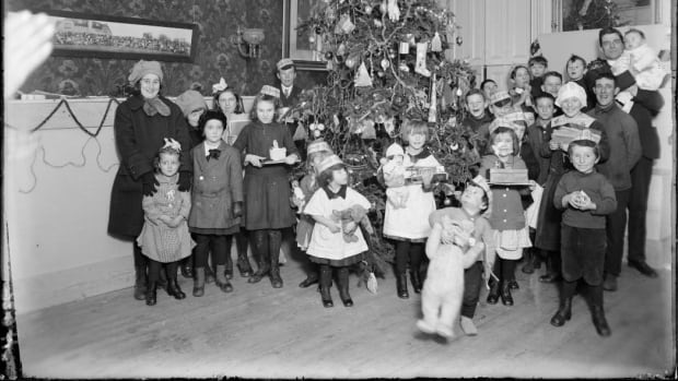 A children's Christmas party is held in Halifax in 1917. Christmas took on extra meaning for some that year as they helped people who had lost family, friends, and much or all of what they owned.
