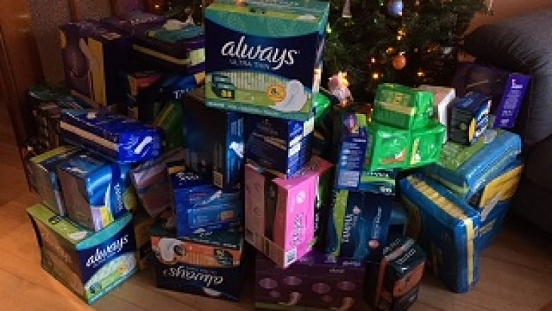 Image result for feminine hygiene products piled up