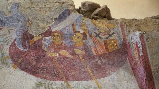 St. Nicholas boat fresco