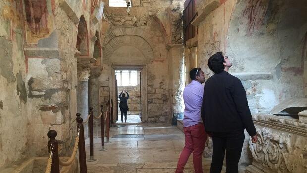 Tourists in Saint Nicholas church