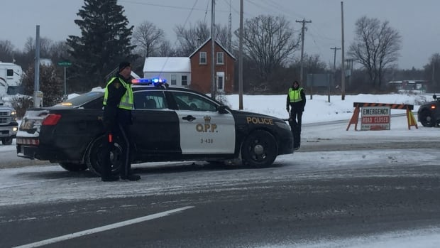 Ontario Provincial Police investigated a fatal collision on Highway 7 west of Carleton Place, Ont., on Dec. 22, 2017, close to where another collision occurred on Jan. 2, 2018.