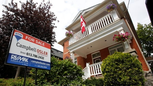 A real estate sign stands in front of a house for sale in Ottawa in August 2017. With some big changes on the horizon, housing topics are likely to dominate Canadian headlines again this year.